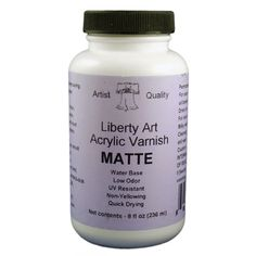 Liberty Varnish Matte - 8oz Carol Ann, Quick Dry, Liberty, Satin, Food, Art, Art Background, Political Freedom, Essen