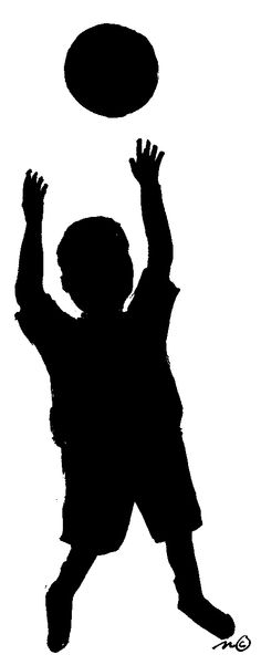 sihouette art for children