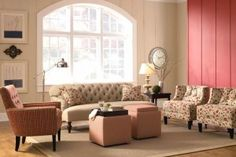 Residential Interior Design with Greenwich Sofa, Gia and Birkin Chair by Rowe Furniture