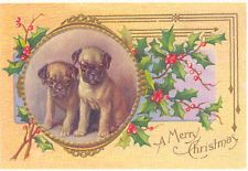 Pug Puppies ~  Christmas Note Cards
