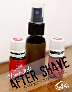 DIY After Shave with Masculine Scent - great gift for dad, husband, or any man who shaves. Easy to make even with kids!
