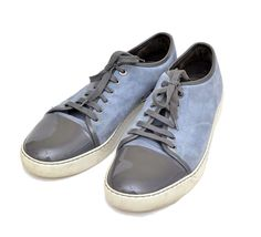 AUTHENTIC LANVIN SUEDE PATENT LEATHER FASHION SNEAKERS US 11 #Lanvin #FashionSneakers