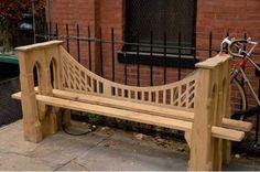 Bench modelled on the Brooklyn Bridge