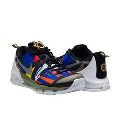 NIKE Kevin Durant KD 8 All Star sneaker Men's low top shoe Lace up closure  Signature NIKE swoosh l.