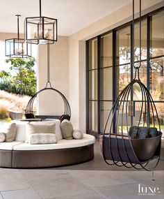 I like the hanging chair. Maybe possibly outside instead of in.