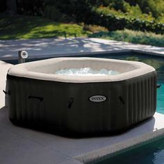 Intex 28456 Bubble & Jet Deluxe inflatable hot tub SPA with full optional sand accessories. Best price, buy now! Intex Whirlpool, Whirlpool Bathtub, Spas, Pure Spa Intex, Spa 4 Places, Best Inflatable Hot Tub, Bubble Spa, Tubs For Sale, Gardens