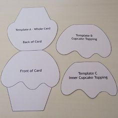 Cupcake Card Template and Tutorial