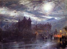 Albert Goodwin (1845-1932), Holyroodhouse, Edinburgh.