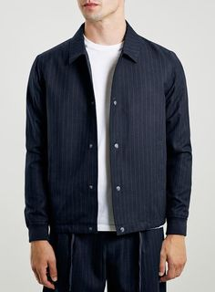 Co-ord Collection Navy Pinstripe Coach Jacket