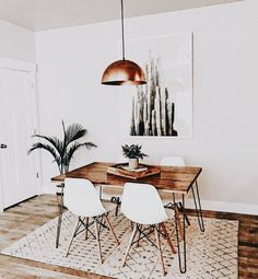 bohemian minimalist dining room