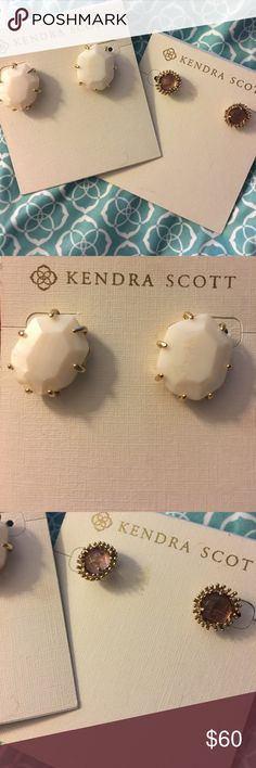 Kendra Scott studs pack Kendra Scott studs pack! Great condition. Will come in one KS cloth bag. Kendra Scott Jewelry Earrings