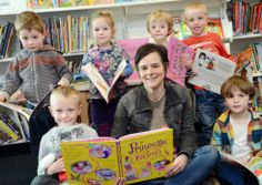 Children's author Caryl Hart reads from her books at a Mixed Up Fairtales event at Dereham Library as part of Breckland Book Festival. Picture Matthew Usher