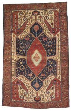 Persian Bakshaish rug, circa 1880 Area Rugs  More Pins Like This At FOSTERGINGER @ Pinterest