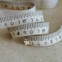Handmade diy accessories 1.5cm ruler pattern zakka cotton webbing cloth tape printed label of the package