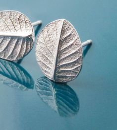 Silver Leaf Post Earrings | Jewelry Earrings | Blue Dot Jewelry | Scoutmob Shoppe | Product Detail