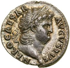 Lot 3123 Nero. Silver Denarius (3.47 g), AD 54-68. Rome, ca. AD 66/7. NERO CAESAR AVGVSTVS, laureate head of Nero right, sporting slight beard. Reverse : SALVS in exergue, Salus seated left, holding patera. RIC 60; WCN 60; BMC 90; RSC 314. Goldberg Coins and Collectibles