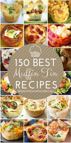 These muffin tin recipes include both savory and sweet main dishes for breakfast. - These muffin tin recipes include both savory and sweet main dishes for breakfast, lunch, dinner an - Gourmet Recipes, Appetizer Recipes, Healthy Recipes, Recipes Dinner, Quick And Easy Recipes, School Dinner Recipes, Dinner Ideas, Quick And Easy Appetizers, Soup Appetizers