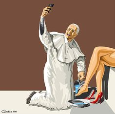 Holy Selfie: Satirical Illustrations Of Non secular Figures Taking Selfies The individuals agree: selfies are unhealthy. And Azerbaijani cartoonist Gündüz Ağayev is utilizing them in his illustrations to satirize spiritual ic. Arte Dope, Dope Art, Selfies, Gravure Illustration, Illustration Art, Blog Art, Satirical Illustrations, Satirical Cartoons, K Wallpaper