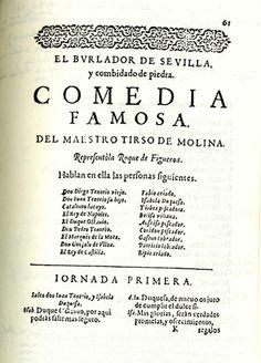 """estos son unos datos de Tirso de Molina """"El Burlador De Sevilla"""" cuando el acto era muy pupular."""