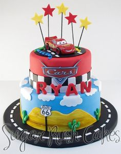 23 Ideas For Birthday Cake Disney Cars Party Ideas Disney Cars Cake, Disney Cars Party, Disney Cars Birthday, Cars Birthday Parties, Disney Cakes, Cars Theme Cake, Auto Party, Car Party, 3rd Birthday Cakes