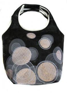 SFI Accessories Vegan Leather Bag - Black/White $70