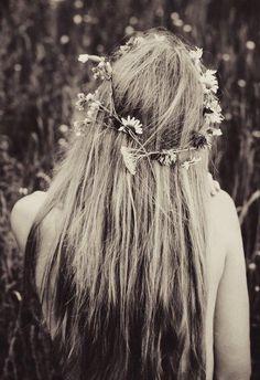 #floral #hair #hippie #boho