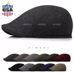 Wool Herringbone Newsboy Gatsby Cap Ivy Hat Golf Mens Flat Cabbie Stripe | Clothing, Shoes & Accessories, Men's Accessories, Hats | eBay!