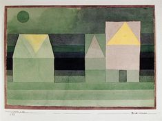 Paul Klee, Drei Hauser Grun-violette Stufung (Troi Maisons Gradation vert-violet)