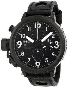 U-Boat Flightdeck CAB Automatic Chronograph Black Leather Mens Watch 6253