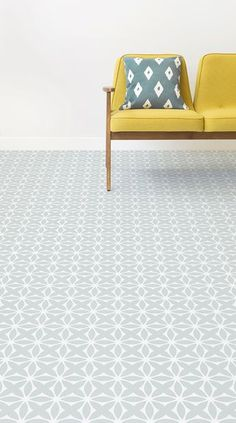 Darling is a Delicate Retro Pattern Vinyl Pattern design that features dainty, floral shapes in a charming tile-like pattern with delicate vintage-style colour schemes. This design is available in soft Light Green and umber Orange. Retro Vinyl Flooring, Vinyl Flooring Bathroom, Bathroom Vinyl, Kitchen Flooring, Kitchen Vinyl, Bathroom Ideas, Brown Bathroom, Family Bathroom, Bathroom Rugs