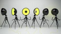 projektant Vladimira Tomilova   lampy Octopussy.