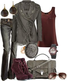 """Warm Fall Day"" by alison-louis-ellis on Polyvore"