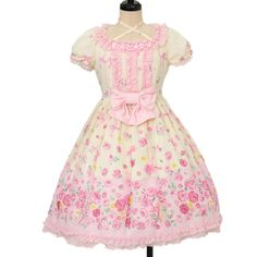 ♡ Angelic pretty ♡ Powder Rose Dress http://www.wunderwelt.jp/products/detail13396.html ☆ ·.. · ° ☆ How to order ☆ ·.. · ° ☆ http://www.wunderwelt.jp/user_data/shoppingguide-eng ☆ ·.. · ☆ Japanese Vintage Lolita clothing shop Wunderwelt ☆ ·.. · ☆