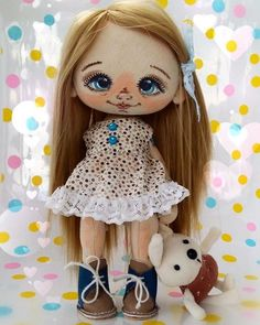 Ирина Плотникова #Сладулькиотириски #handmade_nation #хочу_в_ленту_yh… Tiny Dolls, Soft Dolls, Cute Dolls, Diy Art Dolls, Bear Doll, Doll Head, Hello Dolly, Pixie, Doll Clothes