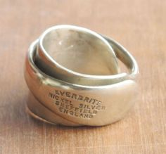 Hallmarked silver spoon ring.