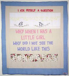 Tracey Emin - Another Question, 2002 Appliqué and embroidery 182 x 182 cm