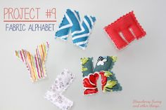 Strawberry Swing and other things: [Kid Tested, Mom Approved! - Link Up] DIY Fabric Alphabet Magnets
