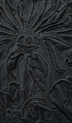 Reverse Applique with contrasting stitch detail; sewing; textiles; fabric manipulation // Alabama Chanin