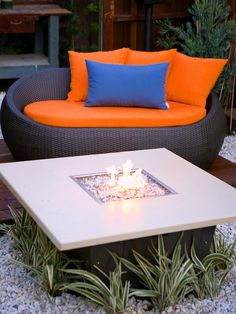 chair, backyard landscaping, outdoor fireplaces, firepit, fire pit
