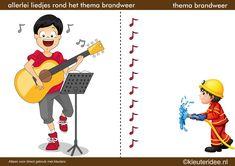 Allerlei liedjes bij thema 'brandweer' voor kleuters, by juf Petra van kleuteridee