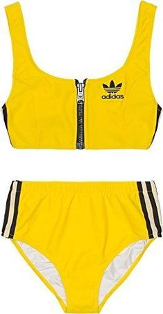 adidas Originals Jeremy Scott NYC Taxi Bikini, www. Ropa Interior Calvin, Ropa Interior Boxers, Summer Bathing Suits, Girls Bathing Suits, Cute Swimsuits, Cute Bikinis, Jeremy Scott, Mode Outfits, Fashion Outfits