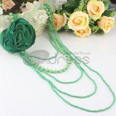 The elegant green fashion necklace