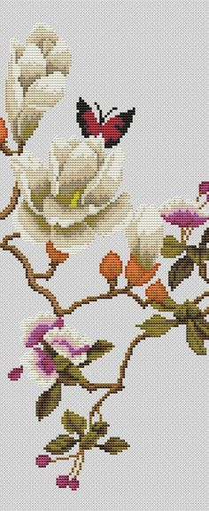 Click to close image, click and drag to move. Use arrow keys for next and previous. Butterfly Cross Stitch, Cross Stitch Bird, Cross Stitch Flowers, Cross Stitch Charts, Cross Stitch Patterns, Bird Embroidery, Cross Stitch Embroidery, Embroidery Patterns, Crafty Craft