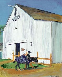Seeley Stables, acrylic painting on canvas by RD Riccoboni, one of America's favorite cultural heritage artists.  From The Beacon Artworks Gallery Collection at Fiesta de Reyes in  Old Town San Diego State Historic Park.