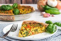 Veggie Quiche   Food Revolution Network Healthy Pie Recipes, Raw Food Recipes, Healthy Foods, Dinner Recipes, Veggie Quiche, Sweet Pie, Tofu, A Food, Food Processor Recipes