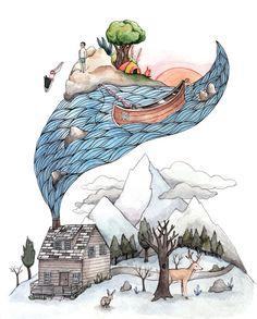 like a dream.  Invincible Summer Print 8.5x11 by Brooke Weeber via the little canoe etsy shop