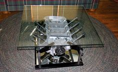 Neparasts Auto Detaļu Pielietojums Parts Diy Carrie Shipp Engine Block Coffee Table