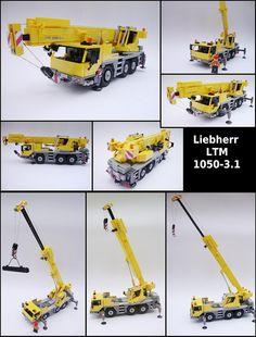 Liebherr LTM 1050-3.1 - Model of telescopic crane in scale 1:40.