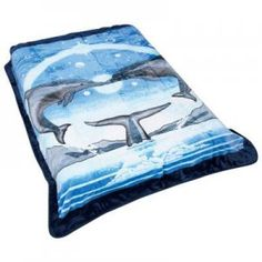 Dolphins in Heart Blanket King Or Queen