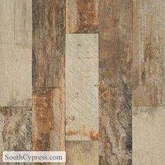 Porcelain tile that looks like wood; the amazing look without the hassel and care neede for laminate and wood